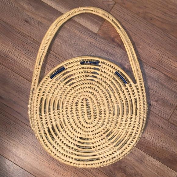 Boho basket handbag purse bag